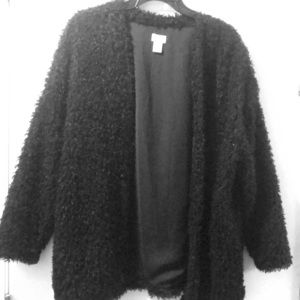 H&M polyester black lightweight coat with pockets